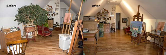 Makeover Monday::Painting Studio Organizing