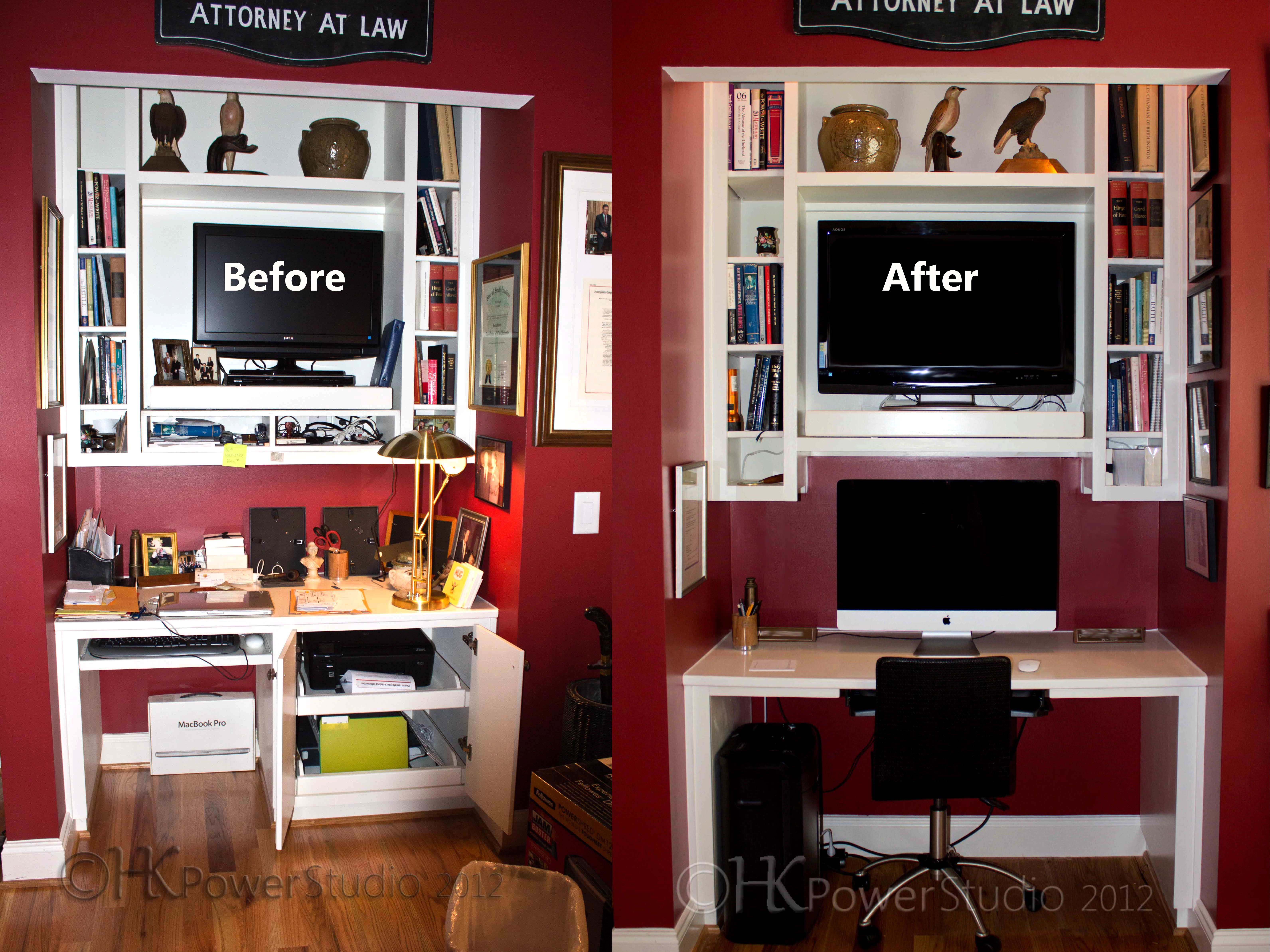 Home Office Organization Before And After Male Models