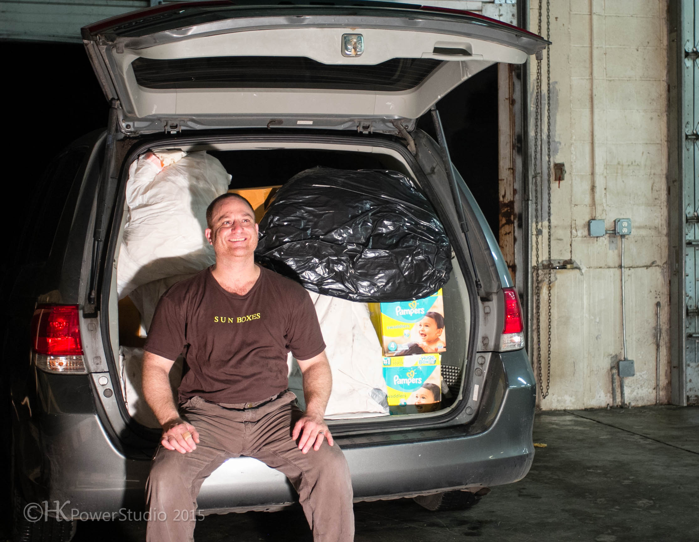 Van Packed with Art Installation